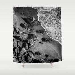 Ocean Waves on Rocks Shower Curtain
