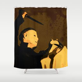 Michael Myers Halloween Vintage Horror Movie Inspiration Shower Curtain