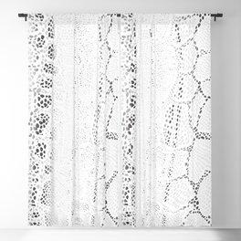 White Snake Skin Blackout Curtain