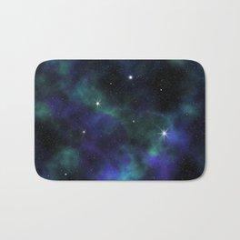 Blue Green Galaxy Bath Mat