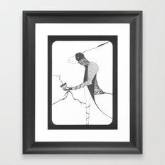 raven drinking wine Framed Art Print