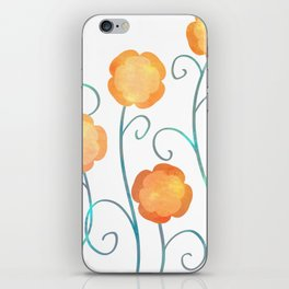 Silly Poppies iPhone Skin