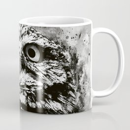 owl portrait 5 wsbw Coffee Mug