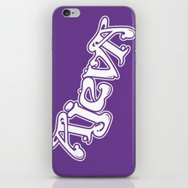 Ajeva Logo 2 Purple iPhone Skin