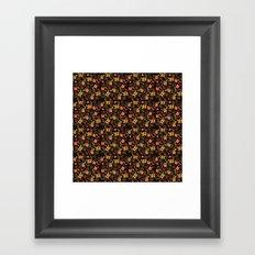 Flower Watercolor Pattern Framed Art Print