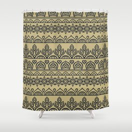 Stripes Mandala 7 Shower Curtain