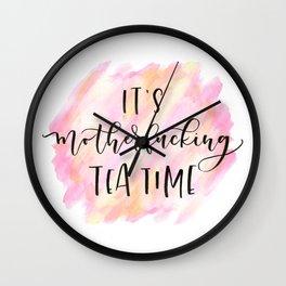 Mofo Tea Time Wall Clock