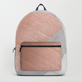 Rose Gold and Marble Backpack