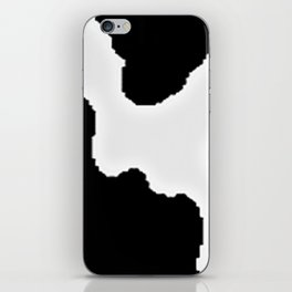 Black and White Cow Animal Pattern Print iPhone Skin