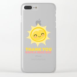 Thank You Have A Nice Day | Grocery Clear iPhone Case