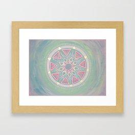 Mandala Clarity, Focus, Awareness Framed Art Print