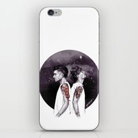 cyrilliart iPhone & iPod Skins featuring The Tiger and The Stag by Cyrilliart