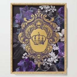 Lalia Dark Floral Crown Serving Tray