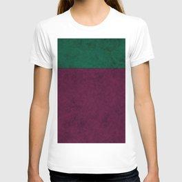 Green suede T-shirt