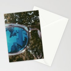 Blue Perspective Stationery Cards