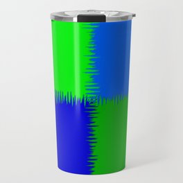 QUARTERS #1 (Blues & Greens) Travel Mug