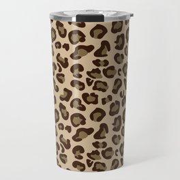 Leopard-Beige+Brown Travel Mug