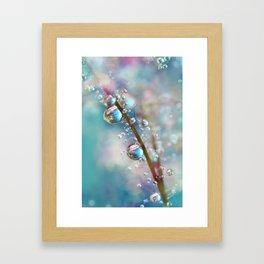 Rainbow Blue Smokey Drops Framed Art Print