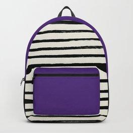Purple Grape x Stripes Backpack