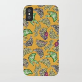 """Oro?"" Cactus with Flower Mustard iPhone Case"