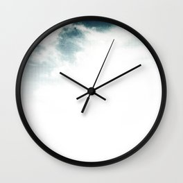 Halftone Clouds Wall Clock