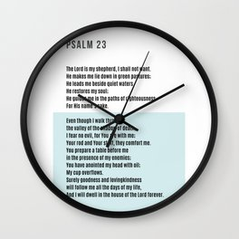 Psalm 23 #minimalist 2 Wall Clock