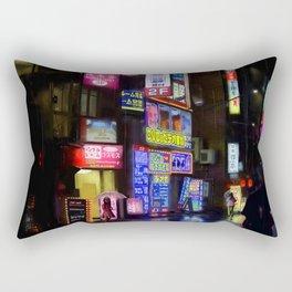 Japan - city - night 1 Rectangular Pillow