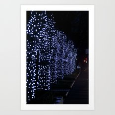 Christmas Blue Light Special Art Print