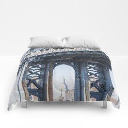 Manhattan Bridge Empire Blue Comforters