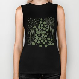Pond Affair in Pink and Green Biker Tank