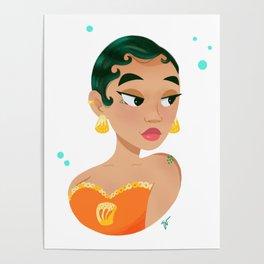Mermay Orange Poster
