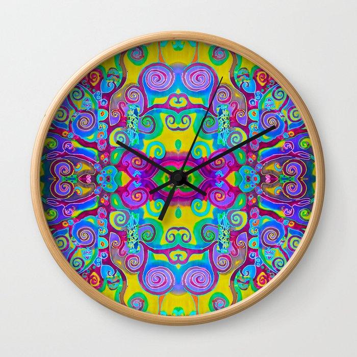 Klimt Tree of Life Mandala Wall Clock