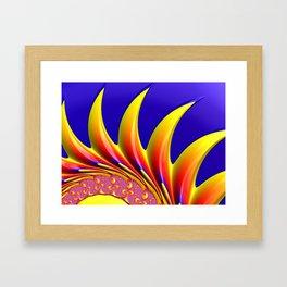 Crown Fractal Framed Art Print
