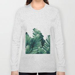 Green Banana Leaves Dream #1 #tropical #decor #art #society6 Long Sleeve T-shirt