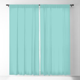 Aqua Blue Soild Blackout Curtain