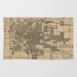 Vintage Map of Denver Colorado (1888) Rug