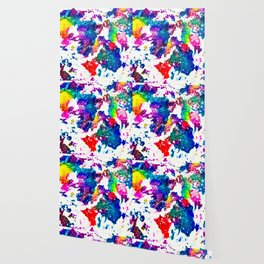 queer radiation —abstract art » modern print » trippy experimental Wallpaper