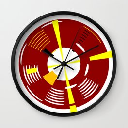 The Red Lighthouse As Seen From Above Wall Clock