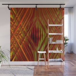 Glass with fire Wall Mural