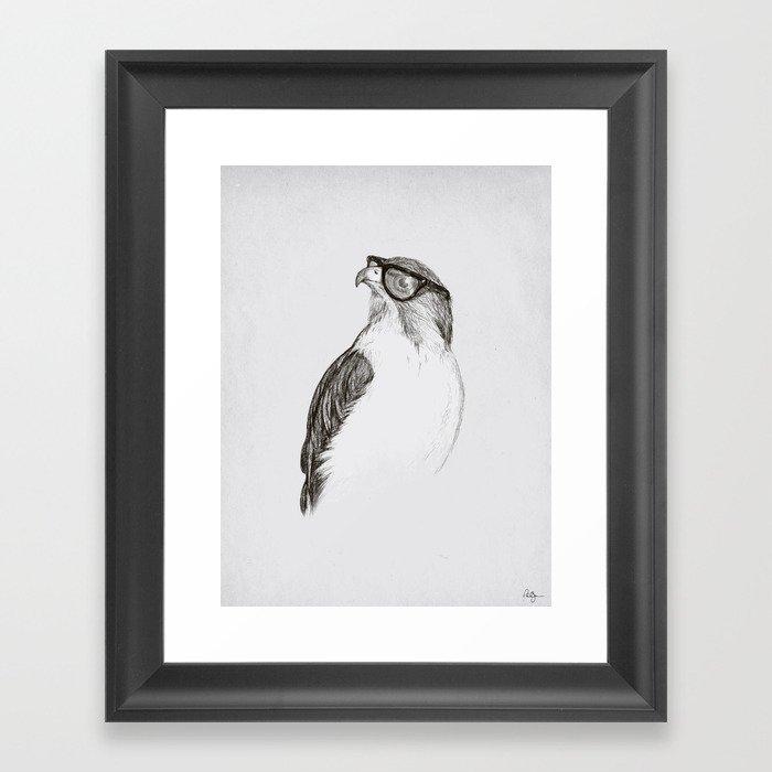Hawk with Poor Eyesight Framed Art Print