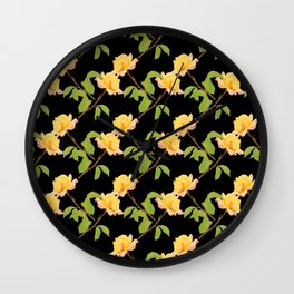 Yellow Roses Wall Clock