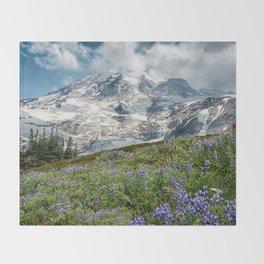 Scenic Landscape Art, Mt. Rainier, Mt. Rainier National Park, Paradise Throw Blanket