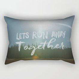 Lets Run Away Together Rectangular Pillow
