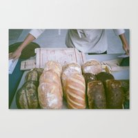 bread Canvas Prints featuring Bread by Ali Inay
