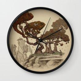 Autumn Chameleons  Wall Clock