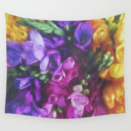 Freesias Wall Tapestry