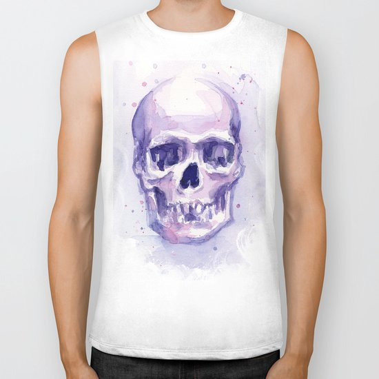 Skull Watercolor Skulls Biker Tank