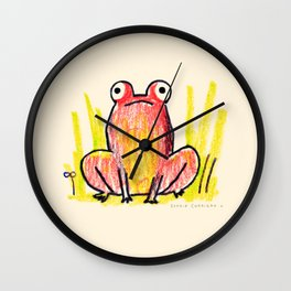 Red Frog Wall Clock