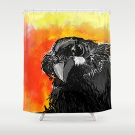 Curious Crow Shower Curtain