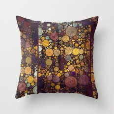 Enchanted Autumn -- Painterly Abstract Fall Color Magic Throw Pillow
